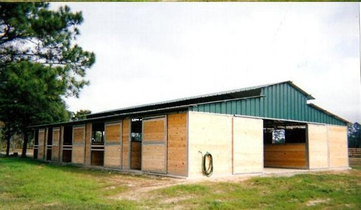 RCA Tongue and Groove Barn with 14' x 14' Stalls with 6' Dutch Back Barn Doors